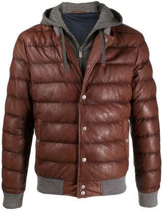 Eleventy Quilted Sheepskin Jacket