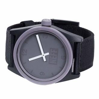 Neff Men's Analog-Quartz Sport Watch with Nylon Strap Black 23 (Model: NF0201-5)