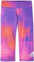 adidas Printed Capri Tight (Toddler/Kid) - Purple Print - 4T
