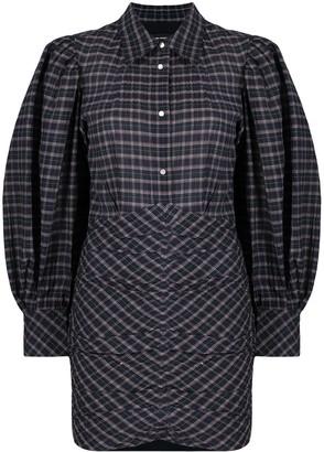Isabel Marant Check-Print Shirt Dress