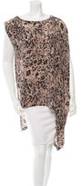 Rachel Zoe One-Shoulder Printed Tunic