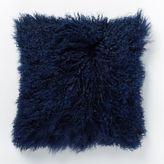 west elm Mongolian Lamb Pillow Cover - Velvet Ink (Square)