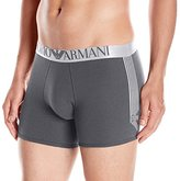 Emporio Armani Men's Stretch Cotton Shiny Logo Band Boxer Brief