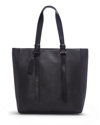 Sole Society Women's Eban Tote Vegan Leather Black From