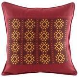 Maya Handwoven Burgundy Cotton Cushion Cover from Guatemala, 'Stars of Solola'