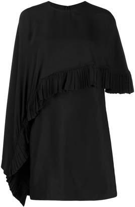 Valentino asymmetric poncho-style short dress