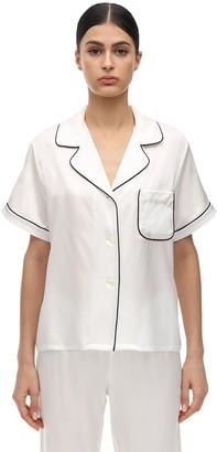 Morgan Lane Katelyn Silk Charmeuse Pajama Top
