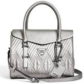 GUESS Eddie Quilted Flap Satchel