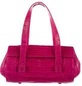 Nancy Gonzalez Crocodile Flap Shoulder Bag