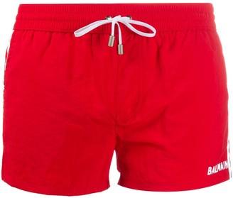 Balmain Logo Swim Shorts