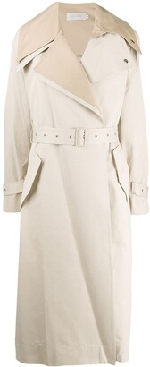 Low Classic layered belted trenchcoat