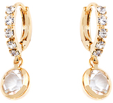 Sweet & Soft Gold & Crystal Huggie Earrings With Swarovski® Crystals