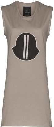 Moncler + Rick Owens Oversized Logo Patch Tank Top