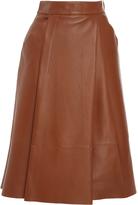 Paule Ka Leather A Line Skirt