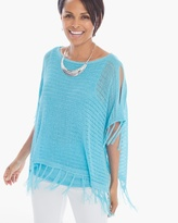Chico's Bayleigh Fringed Pullover