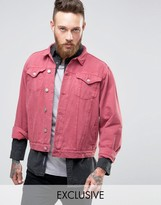 Reclaimed Vintage Oversized Denim Jacket In Overdye