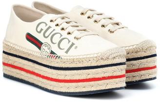 Gucci Logo canvas espadrilles