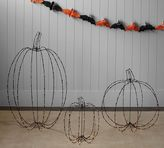 Pottery Barn Lit Wire Pumpkins