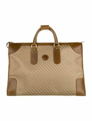 Gucci Vintage Leather-Trimmed Weekender Bag Tan