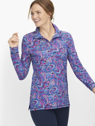 Talbots Paisley Button Placket Pullover
