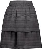 IRO Jade tiered silk and cotton-blend mini skirt