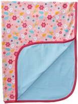 Zutano Friendly Bird Blanket (Baby) - Pink-One Size