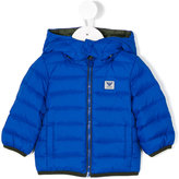 Armani Junior hooded padded jacket - kids - Polyamide/Polyester/Duck Feathers - 9 mth