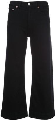 Trave Denim Paint it Black cropped jeans