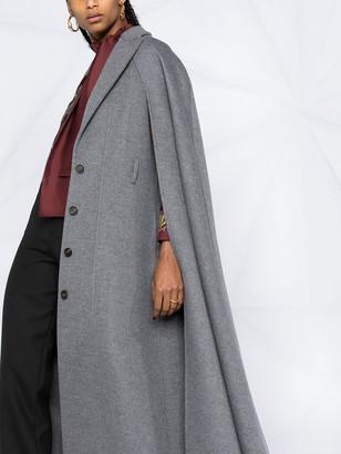 Salvatore Ferragamo Cape-Detail Belted Coat