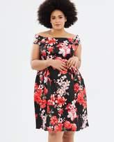 Floral Bardot Dress