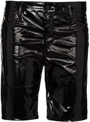 RtA High-Waist Faux-Leather Shorts