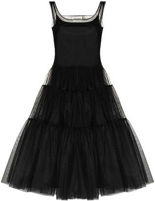 Molly Goddard Tiered Tulle Dress
