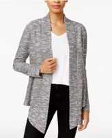 Bar III Asymmetrical Bouclé Cardigan, Only at Macy's