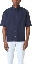Vince Deep Pleat Boxy Fit Shirt