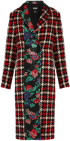 MSGM Hound's-tooth wool-blend coat