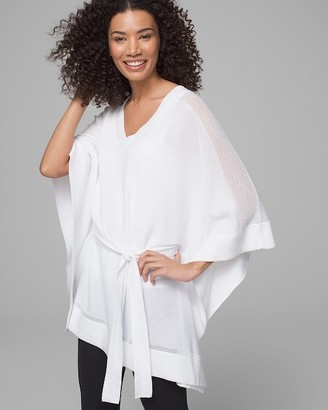 Soma Intimates Tie Front Sweater Poncho