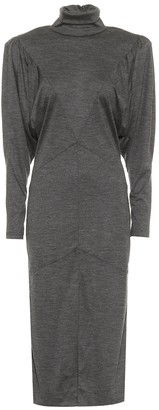 Isabel Marant Genia wool jersey midi dress