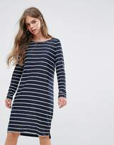 Pieces Meta Stripe Shift Dress