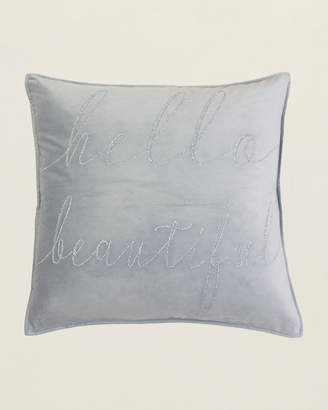 Thro Velvet-Inspired Hello Beautiful Pillow