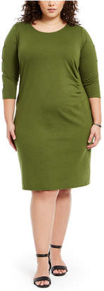 NY Collection Plus Size Ruched Dress