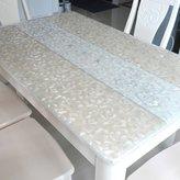 JIN Tablecloths PVC Table Cloth,Soft Glass Water An Hot Table Mat, Transparent Matte Cloth,Plastic Table Mat