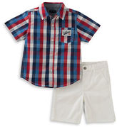 Tommy Hilfiger Plaid Shirt and Twill Shorts Set
