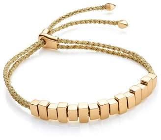 Monica Vinader Gold Vermeil Linear Ingot Cord Friendship Bracelet