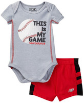 New Balance Short & Bodysuit Set (Baby Boys)
