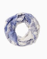 Charming charlie Foil Leaves Infinity Scarf