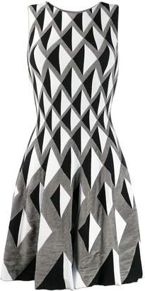 Valenti Antonino geometric print dress