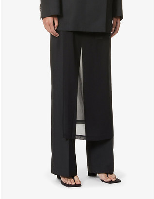 Acne Studios Paminne wool-blend straight-cut trousers