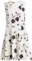 Oscar de la Renta Sleeveless Pleated Mini Dress