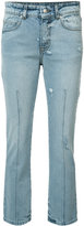 Alexander McQueen cropped jeans - women - Acetate/Cotton - 38