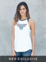Junk Food Clothing Wonder Woman Raglan Tank-ew/jb-s